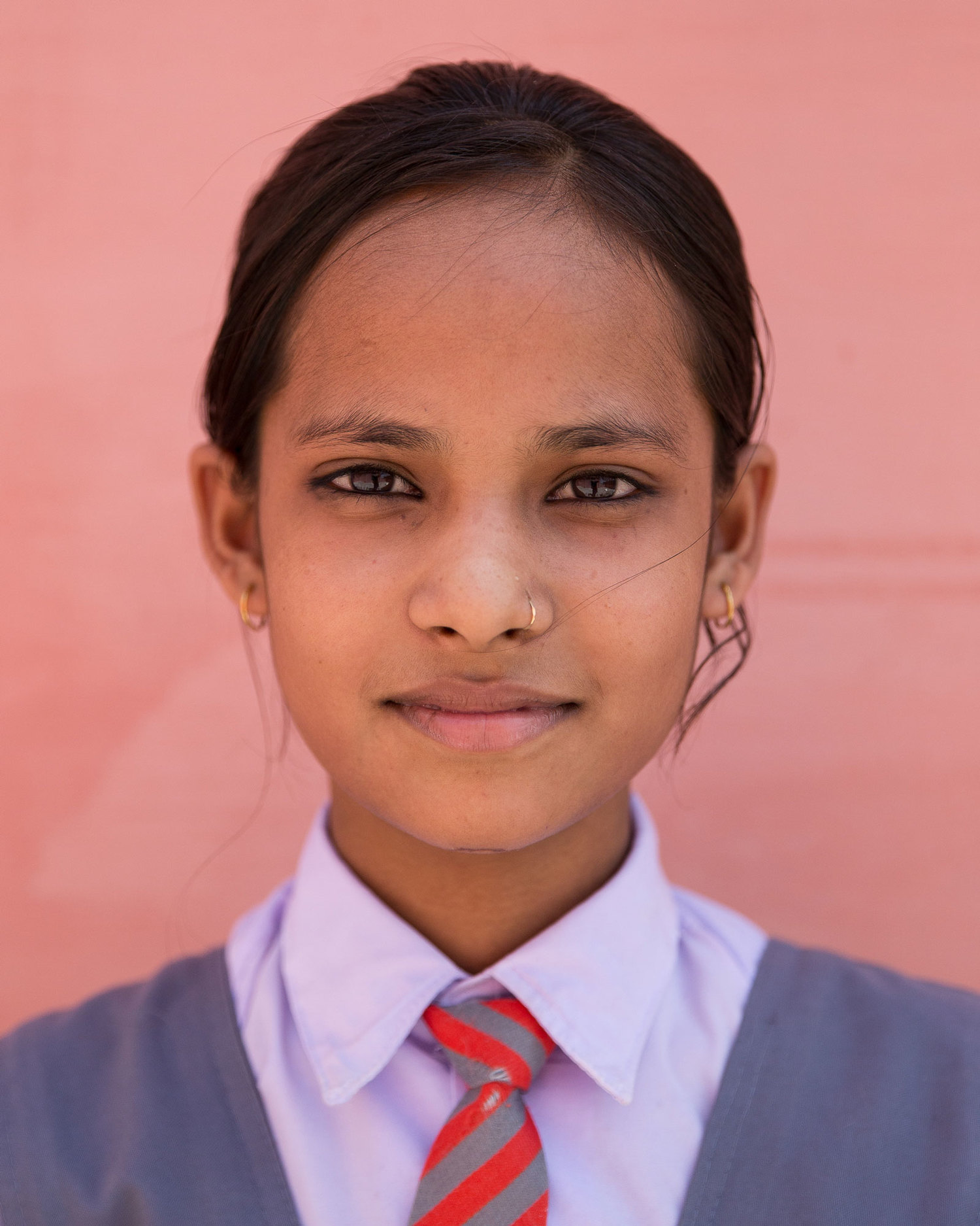 "Jyoti Sahkya, 9th class.  ""I want to help establish a just country where everybody is equal in the eye of the law. Our teachers advise us to keep away from all evil and they always try to make us a good person."""