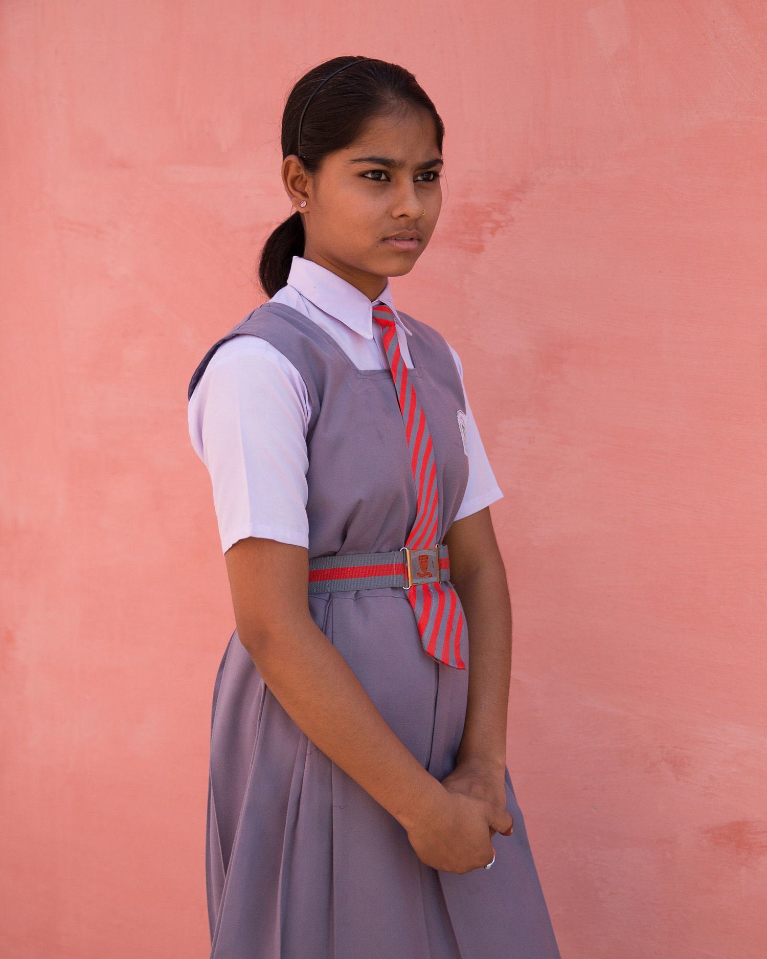 "Alka Verma, 6th class.  ""I want to be a teacher and be helpful in the raising of children. Our school is outstanding. I received a new life from it."""