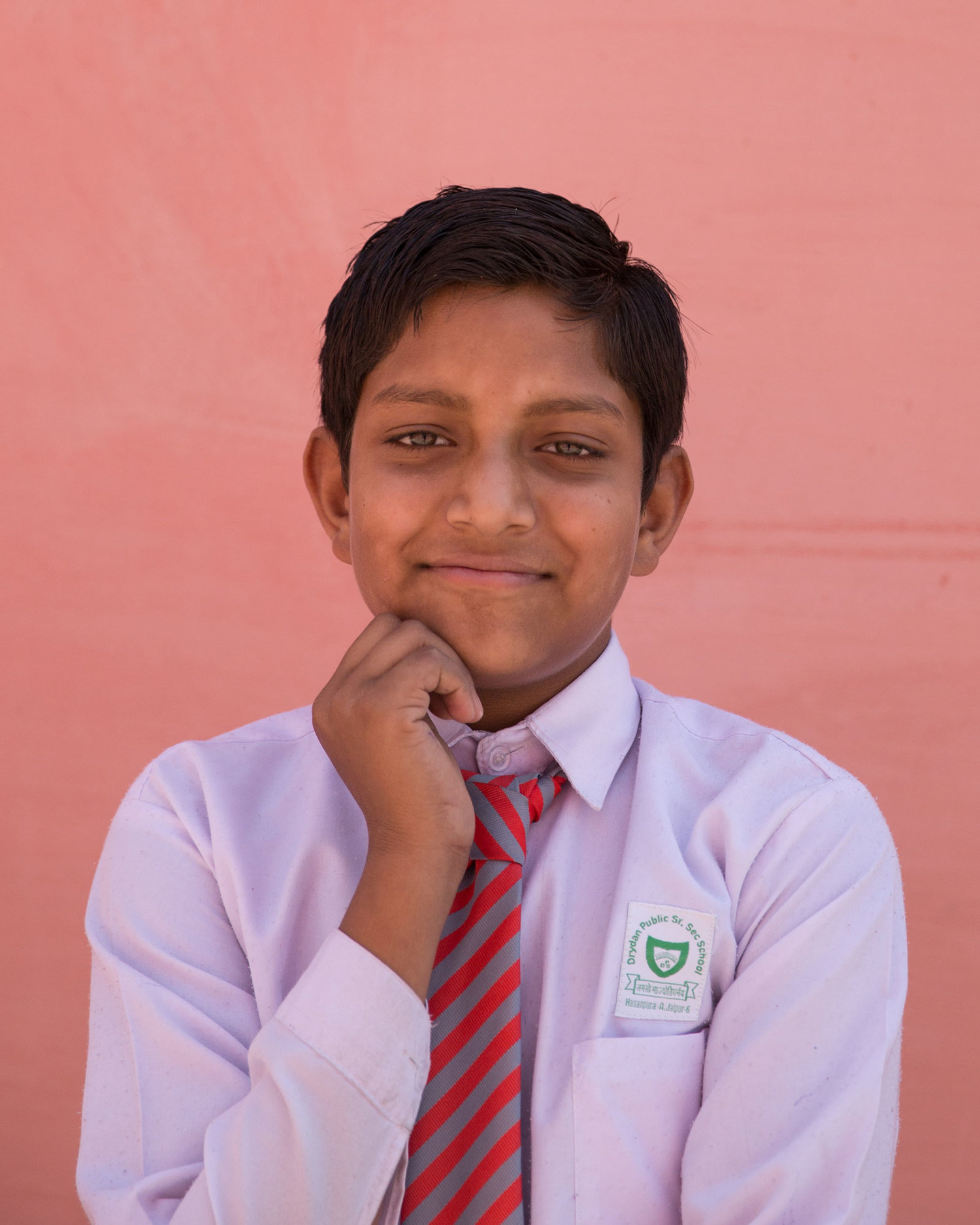 "Akash Kadera, 6th class.  ""I want to be an officer to make my parents proud. I want to protect others, and be responsible for the extinction of evil from society."""