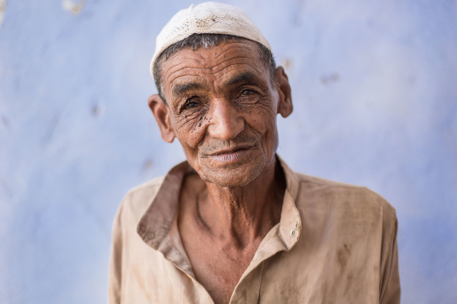 Nounou, an elderly resident of Seheil Island in Aswan.