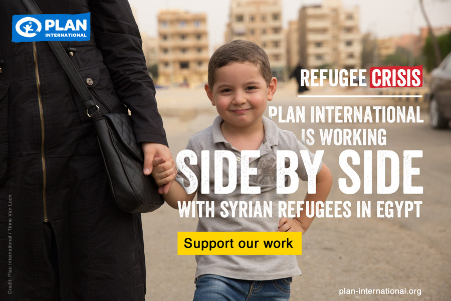 Plan International used one of the images for the social media campaign.